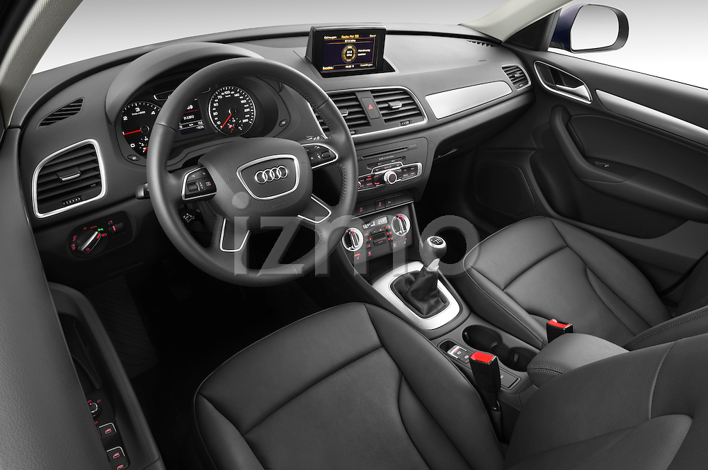 High angle dashboard view of a  2012 Audi Q3 SUV