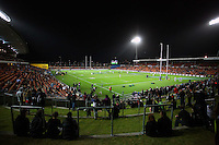 General view of Waikato Stadium before the kick off of the 2013 Rugby Championship - All Blacks v Argentina at Waikato Stadium, Hamilton, New Zealand on Saturday, 7th September   2013. Copyright Dion Mellow Photography. Credit DMP / Dion Mellow