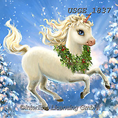 Dona Gelsinger, CHRISTMAS ANIMALS, WEIHNACHTEN TIERE, NAVIDAD ANIMALES,unicorn, paintings+++++,USGE1837,#xa#