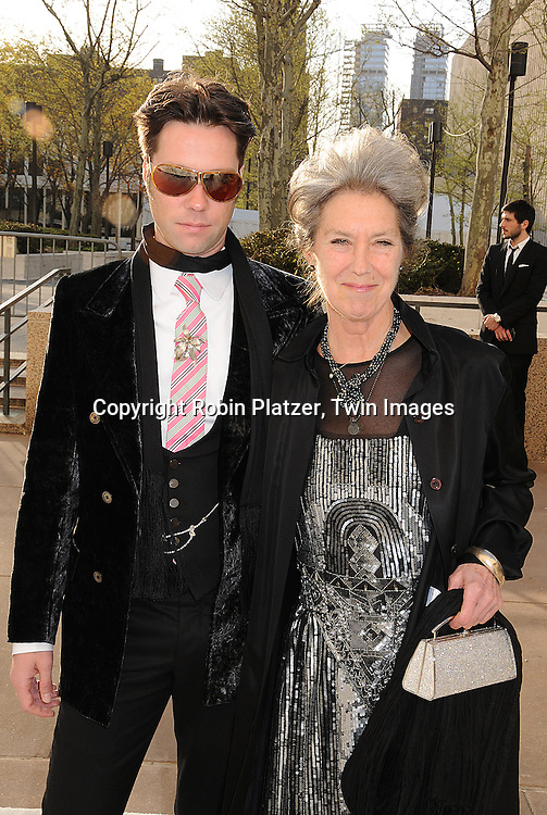 """Rufus Wainwright and mother Kate McGarigle..arriving at The Metropolitan Opera Opening Night Gala Benefit, underwritten by Yves Saint Laurent, on April 21, 2008 at The Metropolitan Opera House in Lincoln Center. ..The opening opera was  Donizetti's """"La Fille du Regiment.""""....Robin Platzer, Twin Images"""