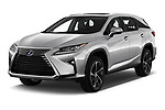 2019 Lexus RX Privilege-Line 5 Door SUV Angular Front stock photos of front three quarter view