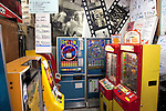 Tokyo, Japan - The Traditional Sweet Shop and Game Museum opened in 2009 to introduce the Japanese retro sweets and games to visitors who can play with 10 yen (10 cents USD) in Tokyo, June 16, 2013. According to the owner some machines are from 1970. The Museum also rents the machines to movies and TV programs. It received a Citizen's Culture Special Award from Itabashi Ward. (Photo by Rodrigo Reyes Marin/AFLO)