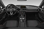 Stock photo of straight dashboard view of a 2019 Mazda MX-5 RF Club 2 Door Convertible