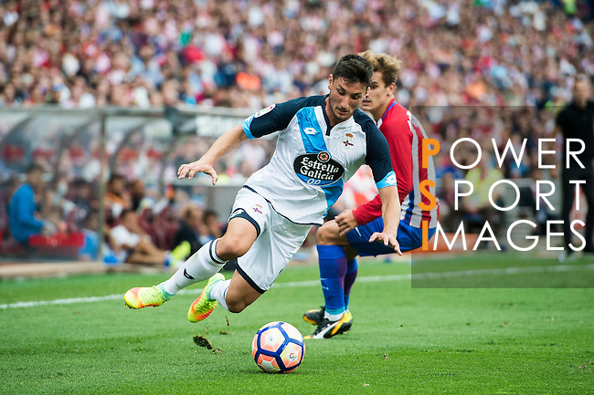 of Atletico Madrid in action during their La Liga match between Atletico Madrid and Deportivo de la Coruna at the Vicente Calderon Stadium on 25 September 2016 in Madrid, Spain. Photo by Diego Gonzalez Souto / Power Sport Images