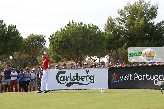Ricardo Gouveia (POR) on the 16th during the 2nd round of the 2017 Portugal Masters, Dom Pedro Victoria Golf Course, Vilamoura, Portugal. 22/09/2017<br /> Picture: Fran Caffrey / Golffile<br /> <br /> All photo usage must carry mandatory copyright credit (&copy; Golffile | Fran Caffrey)