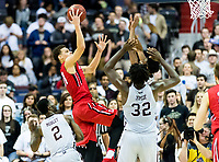 Washington, DC - MAR 10, 2018: Davidson Wildcats guard Kellan Grady (31) hits a fade away jump shot during semi final match up of the Atlantic 10 men's basketball championship between Davidson and St. Bonaventure at the Capital One Arena in Washington, DC. (Photo by Phil Peters/Media Images International)