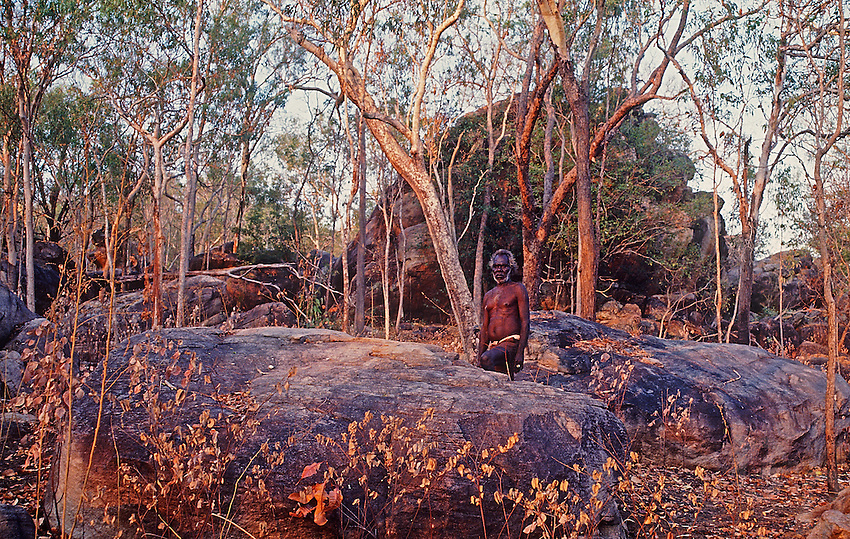 Tribal Aboriginal in Arnhem Land Northern Territory, Australia