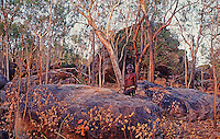 Tribal Aboriginal in Arnhem Land Northern Territory, Australia