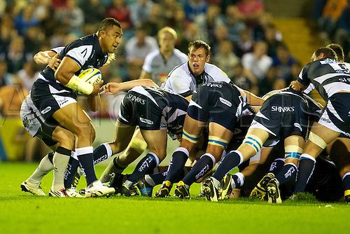 03.09.2010.  Sale Sharks v Newcastle Falcons.  Sale Sharks 35 Newcastle Falcons 18.