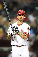 May 3, 2011; Phoenix, AZ, USA; Arizona Diamondbacks second baseman Ryan Roberts against the Colorado Rockies at Chase Field. Mandatory Credit: Mark J. Rebilas-