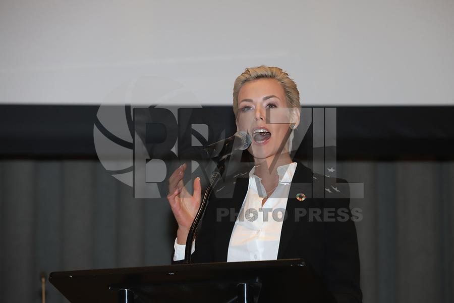 NOVA YORK, EUA, 05.02.2019 - ONU-NOVA YORK - Gunhild Stordalen durante encontro para falar sobre a comida no mundo na Sede da Onu em Nova York nesta terça-feira, 05.  (Foto: Vanessa Carvalho/Brazil Photo Press)