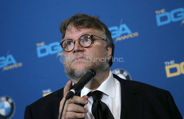 BEVERLY HILLS, CA - FEBRUARY 3: Guillermo del Toro in the press room at the 70th Annual DGA Awards at The Beverly Hilton Hotel in Beverly Hills, California on February 3, 2018. Credit: Faye Sadou/MediaPunch