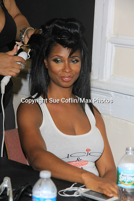 Jennifer Williams - Basketball Wives at Samantha Black Fashion Show - NYC Fashion Week - September 7, 2013 - New York City, NY (Photo by Sue Coflin/Max Photos)