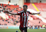 Chris Basham of Sheffield Utd celebrates his goal during the Emirates FA Cup Round One match at Bramall Lane Stadium, Sheffield. Picture date: November 6th, 2016. Pic Simon Bellis/Sportimage