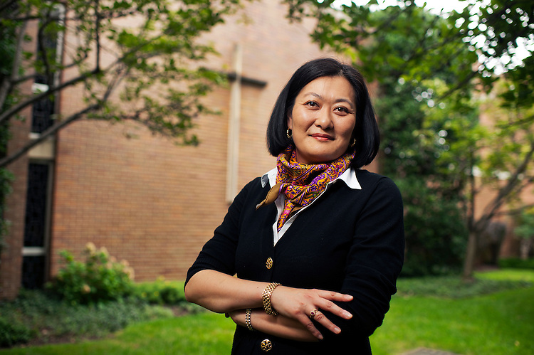 UNITED STATES - JULY 17: Chieko Noguchi of the Archdiocese of Washington, is photographed at their offices in Hyattsville, Md., July 17, 2015. (Photo By Tom Williams/CQ Roll Call)