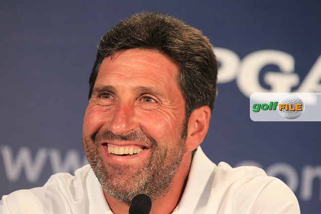 European Team Ryder Cup Captain Jose Maria Olazabal (ESP) in the interview room during Wednesday's practice day of the 2012 PGA Golf Championship at The Ocean Course, Kiawah Island, South Carolina, USA 7th August 2012 (Photo Eoin Clarke/www.golffile.ie)