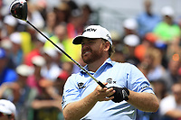 J.B. Holmes (USA) tees off the 1st tee to start his match during Sunday's Final Round of the 117th U.S. Open Championship 2017 held at Erin Hills, Erin, Wisconsin, USA. 18th June 2017.<br /> Picture: Eoin Clarke | Golffile<br /> <br /> <br /> All photos usage must carry mandatory copyright credit (&copy; Golffile | Eoin Clarke)