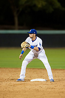 AZL Dodgers shortstop Jacob Amaya (55) on defense against the AZL Indians on July 20, 2017 at Camelback Ranch in Glendale, Arizona. AZL Dodgers defeated the AZL Indians 10-9. (Zachary Lucy/Four Seam Images)