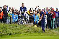 Brooks Koepka (Team USA) on the 6th during the friday fourballs at the Ryder Cup, Le Golf National, Iles-de-France, France. 27/09/2018.<br /> Picture Fran Caffrey / Golffile.ie<br /> <br /> All photo usage must carry mandatory copyright credit (© Golffile | Fran Caffrey)
