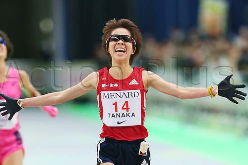13.03.2016. Aichi, Japan. Nagoya womens marathon.  Tomomi Tanaka (JPN) crosses the finish line
