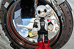 Tokyo, Japan: Kirobo became the first robot to speak in outer space on Aug. 21, 2013. The robot astronaut, equipped with voice-recognition software from Toyota, sent a greeting to everyone on Earth and a photo to Mirata, the back-up crew member robot. (Photo by Toyota/Nippon News)