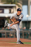 Pitcher Drew Smyly #28 of the Lakeland Flying Tigers delivers a Pitch during a game against the Daytona Cubs at Jackie Robinson Ballpark on June 21, 2011 in Daytona Beach, Florida. (Scott Jontes / Four Seam Images)
