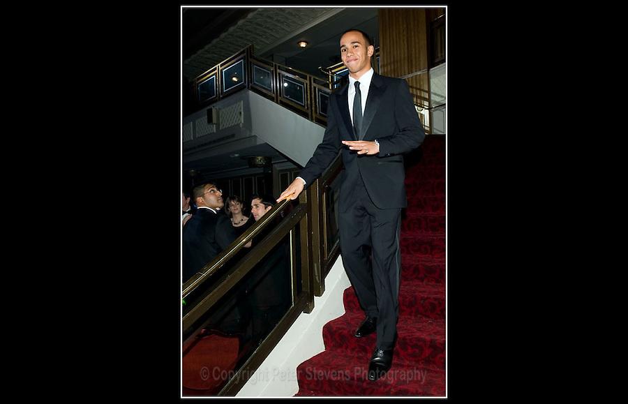 Lewis Hamilton MBE - Autosport Awards 2008 - Grosvenor House Hotel, London - Mirage Events Ltd - 7th December 2008