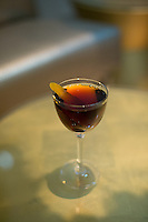 The Little Empire cocktail (Punt e Mes, Carpano Antica, Rittenhouse Rye, Blended Orange Bitters) at The Counting House Bar in the 21c Hotel in Durham, N.C. on Sunday, March 8, 2015. (Justin Cook)