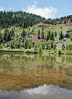 A lake near the San Miguel River Colorado, Monday, July 6, 2015. <br /> <br /> Photo by Matt Nager