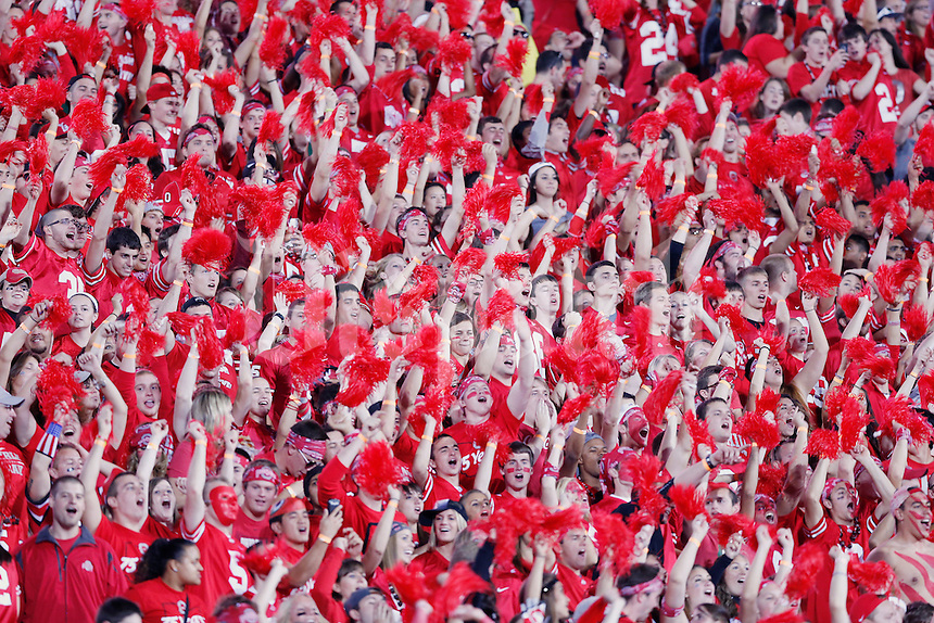 The OSU fans show their colors prior to the start of the game against Wisconsinat Ohio Stadium on September 28, 2013.  (Chris Russell/Dispatch Photo)