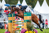 AUS-Isabel English rides Ivian HX during the Showjumping for the CCI2*-L6YO. 2019 FRA-Mondial du Lion - FEI World Breeding Championships. Le Lion d'Angers. France. Sunday 20 October. Copyright Photo: Libby Law Photography