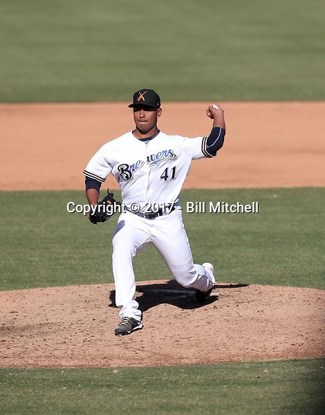 Quintin Torres-Costa - Salt River Rafters - 2017 Arizona Fall League (Bill Mitchell)
