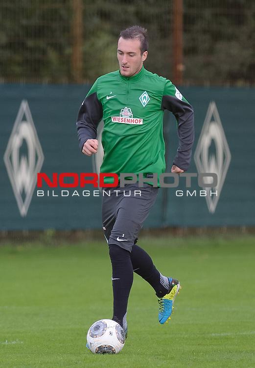 17.09.2013, Trainingsgelaende, Bremen, GER, 1.FBL, Training Werder Bremen, im Bild Luca Caldirola (Bremen #3)<br /> <br /> Foto &copy; nph / Frisch