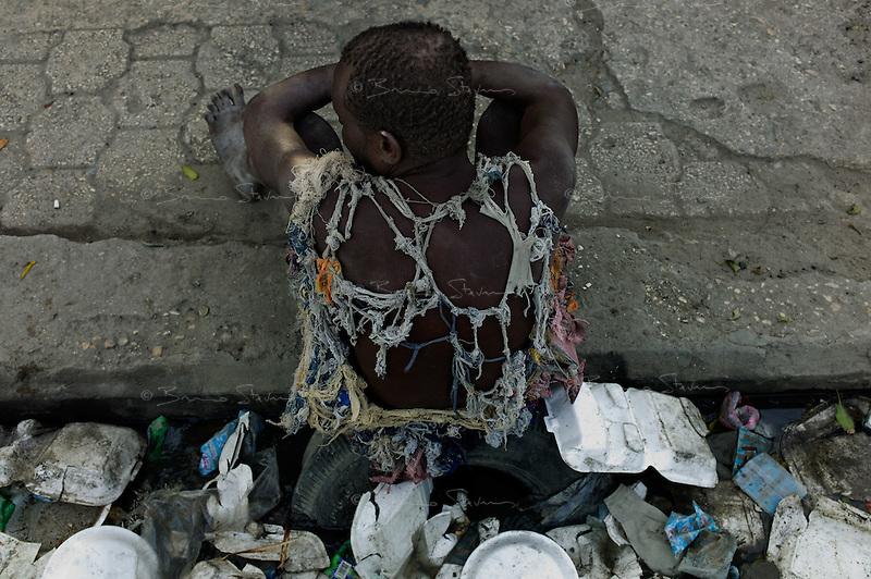 Port au Prince, Haiti, April 16, 2010.Poverty and destruction downtown Port au Prince.