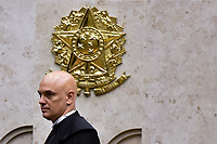 BRASÍLIA, DF, 22.03.2017 – POSSE-ALEXANDRE DE MORAES – Alexandre de Moraes durante cerimônia de sua posse como Ministro do Tribunal Federal, na tarde desta quarta-feira, 22, no Plenário do STF. (Foto: Ricardo Botelho/Brazil Photo Press)