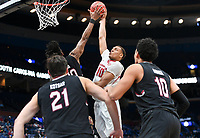 NWA Democrat-Gazette/CHARLIE KAIJO Arkansas Razorbacks forward Daniel Gafford (10) reaches for a layup during the Southeastern Conference Men's Basketball Tournament, Thursday, March 8, 2018 at Scottrade Center in St. Louis, Mo.