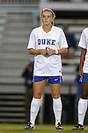 04 October 2014: Duke's Ashton Miller. The Duke University Blue Devils hosted the University of Louisville Cardinals at Koskinen Stadium in Durham, North Carolina in a 2014 NCAA Division I Women's Soccer match. The game ended in a 0-0 tie after double overtime.
