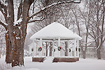 Snowstorm at the bandstand in Danville, VT