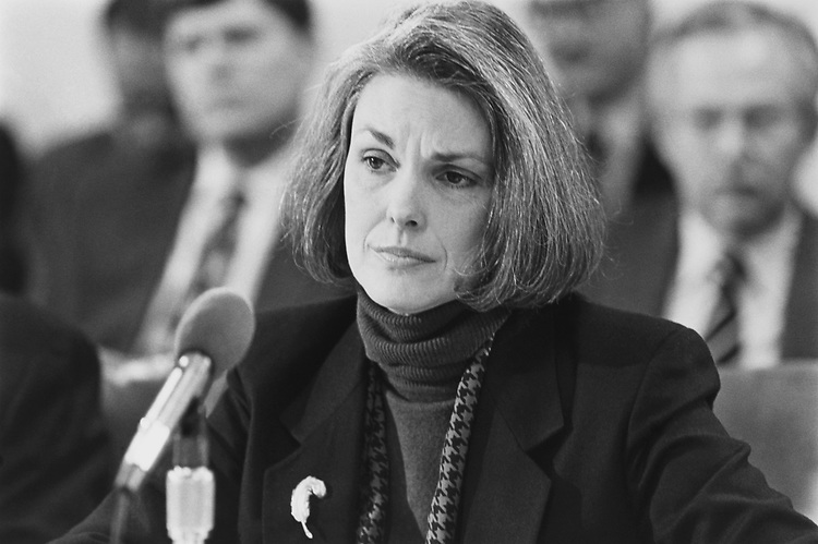 Senate Sergeant-at-Arms Martha Pope at Senate Legislative Appropriations meeting on Feb. 25, 1993. (Photo by Laura Patterson/CQ Roll Call via Getty Images)