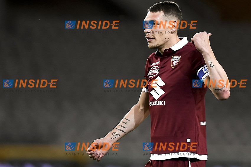 Andrea Belotti of Torino FC  reacts during the Serie A football match between Torino FC and Udinese at Olimpico stadium in Torino ( Italy ), June 23th, 2020. Play resumes behind closed doors following the outbreak of the coronavirus disease. <br /> Photo Image Sport / Insidefoto