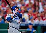 7 October 2017: Chicago Cubs first baseman Anthony Rizzo hits a 2-run home-run in the 4th inning giving the Cubs a 3-1 lead over the Washington Nationals at Nationals Park in Washington, DC. The Nationals defeated the Cubs 6-3 and even their best of five Postseason series at one game apiece. Mandatory Credit: Ed Wolfstein Photo *** RAW (NEF) Image File Available ***