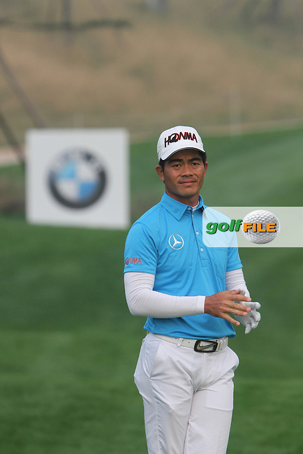 Liang Wenchong (CHN) on the 18th on Day 3 of the BMW Masters 2012 at Lake Malaren Golf Club, Shanghai, China, Tuesday 26/10/12...(Photo www.golffile.ie)