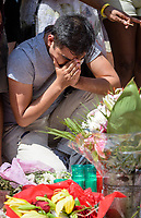 Mourners Gather After the terrorist attack in Barcelona