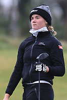 Mia Sandtorv (NOR) on the 1st tee during Round 1 of the Irish Girls U18 Open Stroke Play Championship at Roganstown Golf &amp; Country Club, Dublin, Ireland. 05/04/19 <br /> Picture:  Thos Caffrey / www.golffile.ie