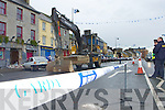 The scene at the attempted bank robbery at the AIB on Castleisland Main Street last Saturday morning