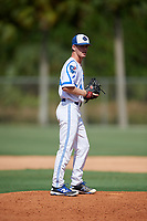Caden Griffin during the WWBA World Championship at the Roger Dean Complex on October 18, 2018 in Jupiter, Florida.  Caden Griffin is a left handed pitcher from Nepean, Ontario who attends John McCrae Secondary School and is committed to Missouri.  (Mike Janes/Four Seam Images)