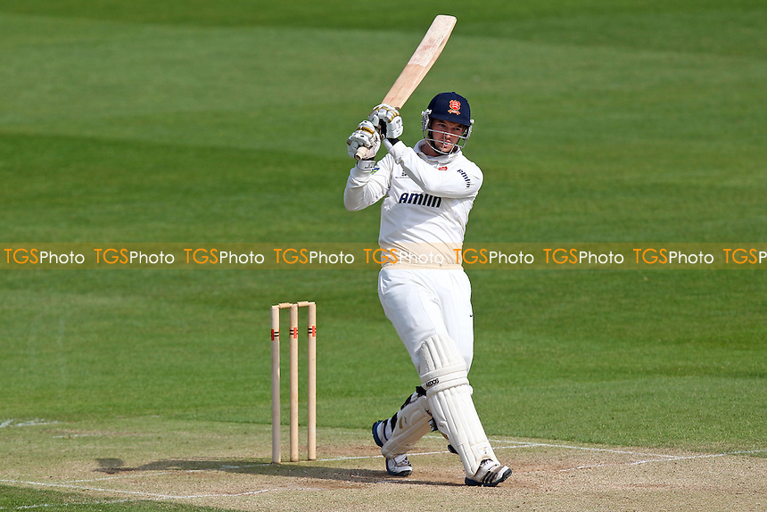 Nick Browne of Essex hits four runs - Essex CCC vs Kent CCC - Pre-Season Friendly Cricket Match at the Essex County Ground, Chelmsford - 03/04/14 - MANDATORY CREDIT: Gavin Ellis/TGSPHOTO - Self billing applies where appropriate - 0845 094 6026 - contact@tgsphoto.co.uk - NO UNPAID USE