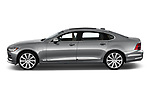 Car driver side profile view of a 2018 Volvo S90 Inscription PHEV T8 AWD 4 Door Sedan
