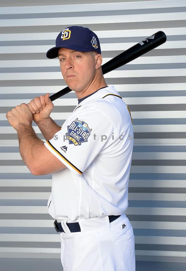 San Diego Padres Erik Kratz (11) during photo day on February 26, 2016 in Peoria, AZ.
