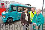 Pictured availing of the Kerry Community Transport 'Tralee - Ballyheigue' Bus Service, from left: Bridie Corridan (Kerryhead), Adrian Godley (Bus Owner Operator), Hilary Albion (Banna).